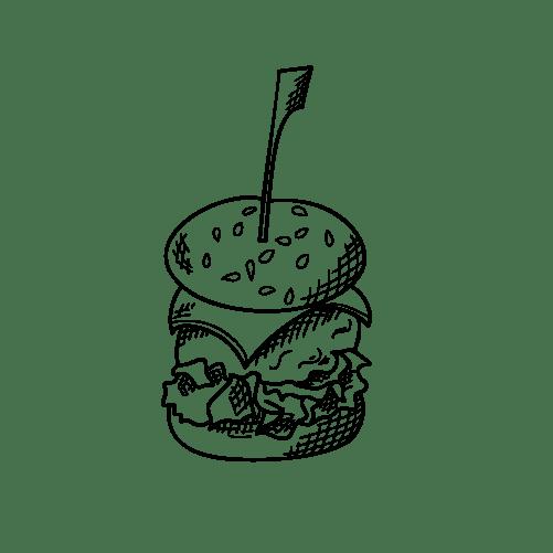 illustratie tapas hamburguer