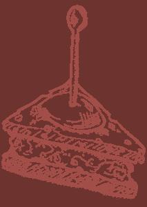 Illustratie tapas rood